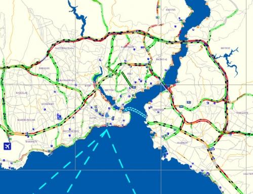 İBB Trafik Kontrol Merkezi Yoğunluk Haritası