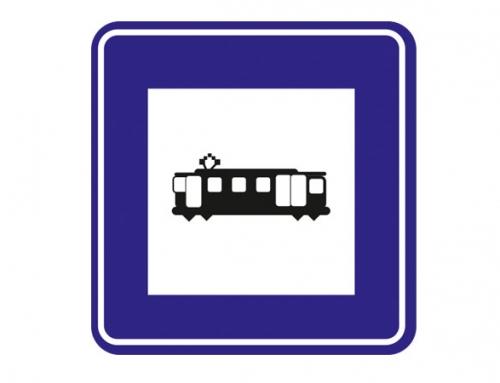 Tramvay Durağı Levhası-B-59