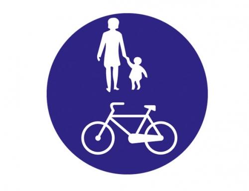 Yayalar ve Bisikletliler Tarafından Kullanılabilen Yol Levhası TT-44a