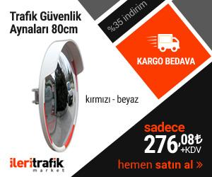 80cm Beyaz Güvenlik Aynası